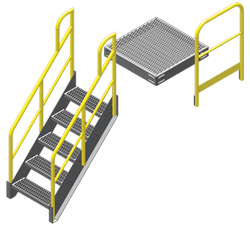 Metal Stairs And Work Platforms 5 Components Unlimited