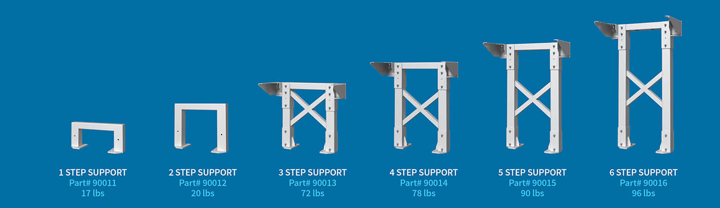 Staircase Tower Support : Metal tower supports for industrial stairs are modular and