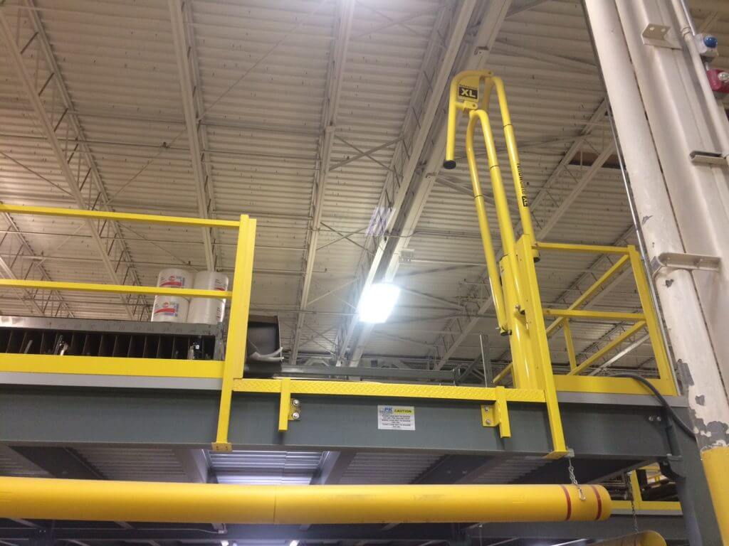 Upright Fall Protection Swing Gate