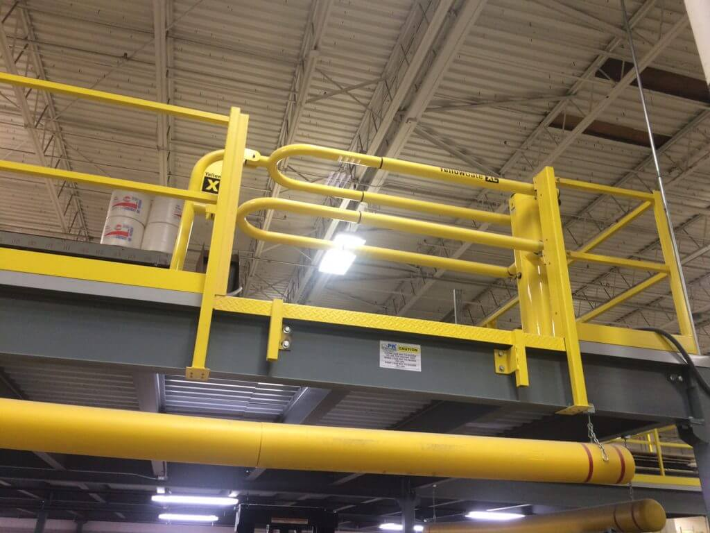Fall Protection Swing Gate on High Platform