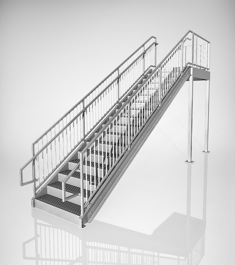Prefabricated commercial stairs 10ft yellowgate for Prefabricated staircases