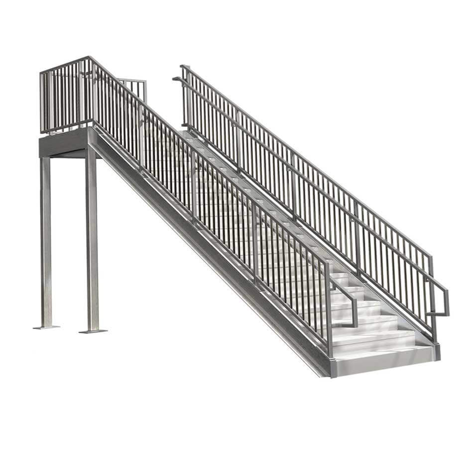 Prefabricated Commercial Stairs 8ft Erectastep
