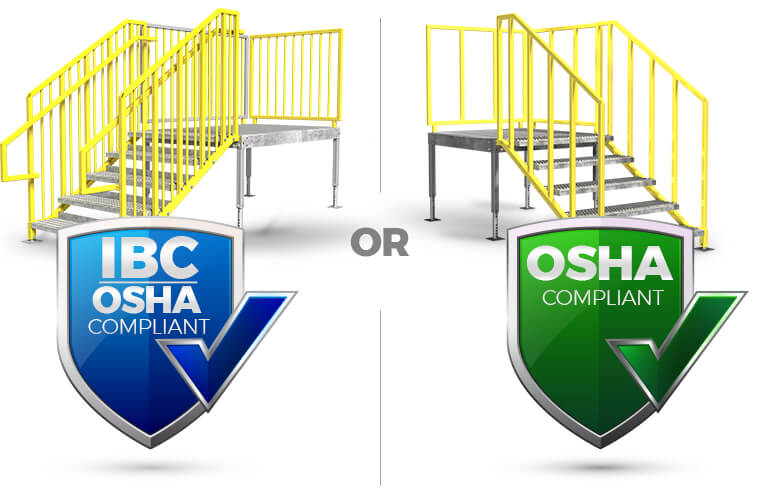 The difference between IBC and OSHA stairs - ErectaStep