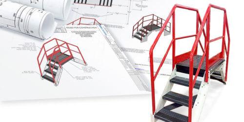 Conveyor Crossover-custom color engineering drawings
