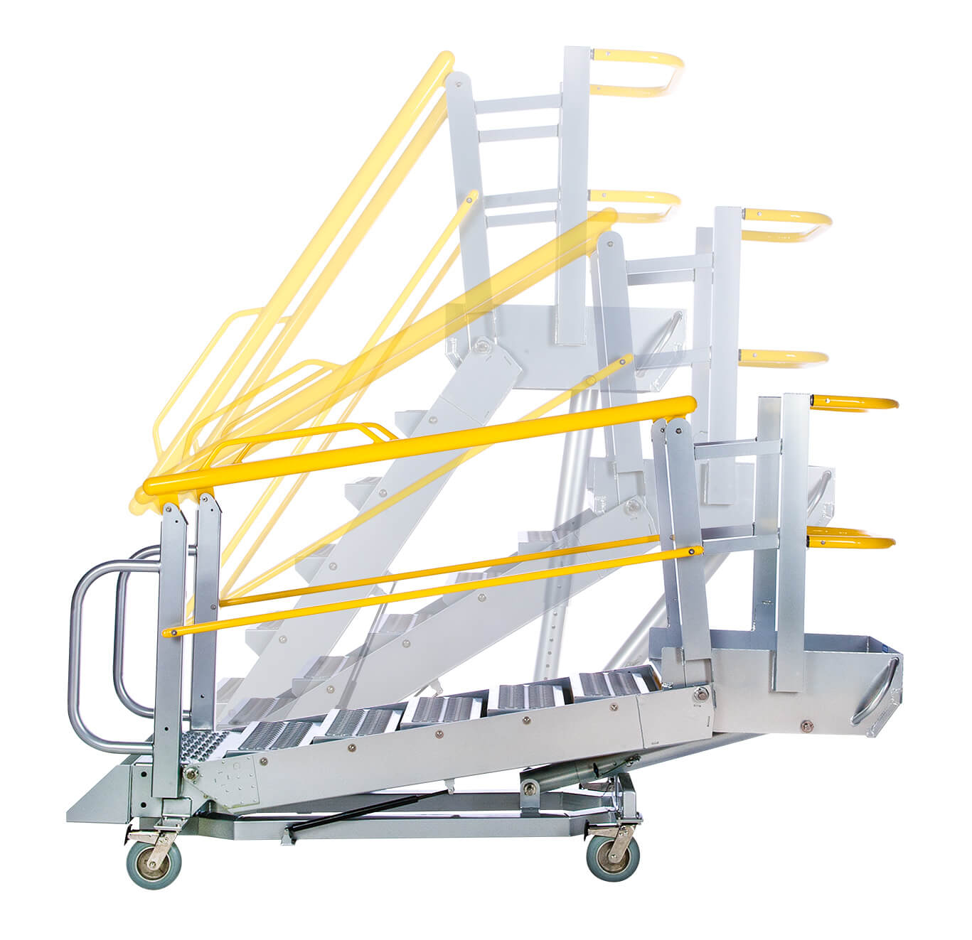 G Series Mobile Self Leveling Stairs And Work Platform