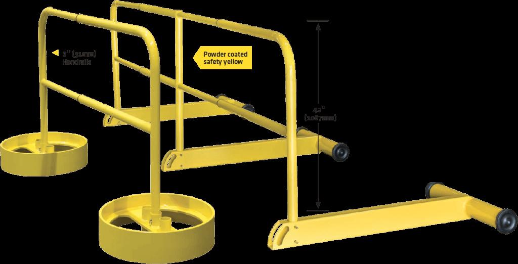 Safety railing system erectastep