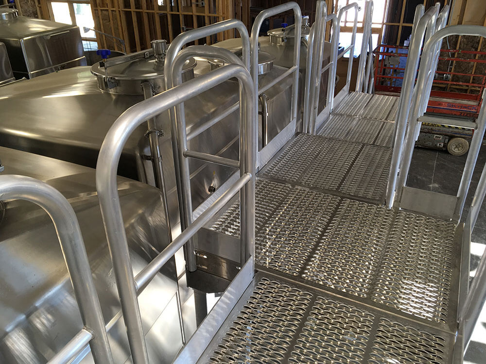 Custom Metal Access Platform for Winery