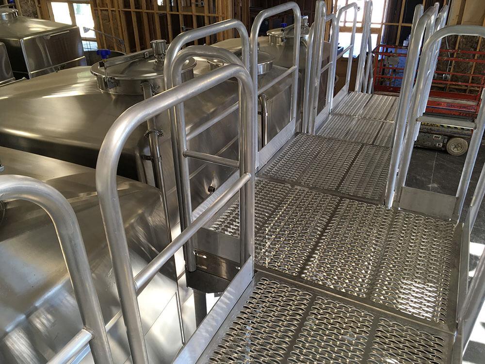 Custom Metal Access Platform for Winery