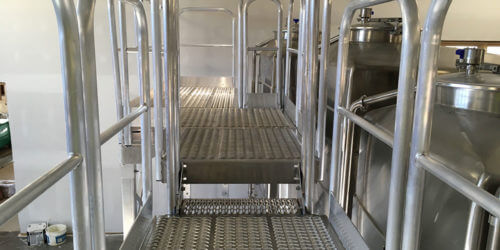 Tiered Metal Access Platform for Winery