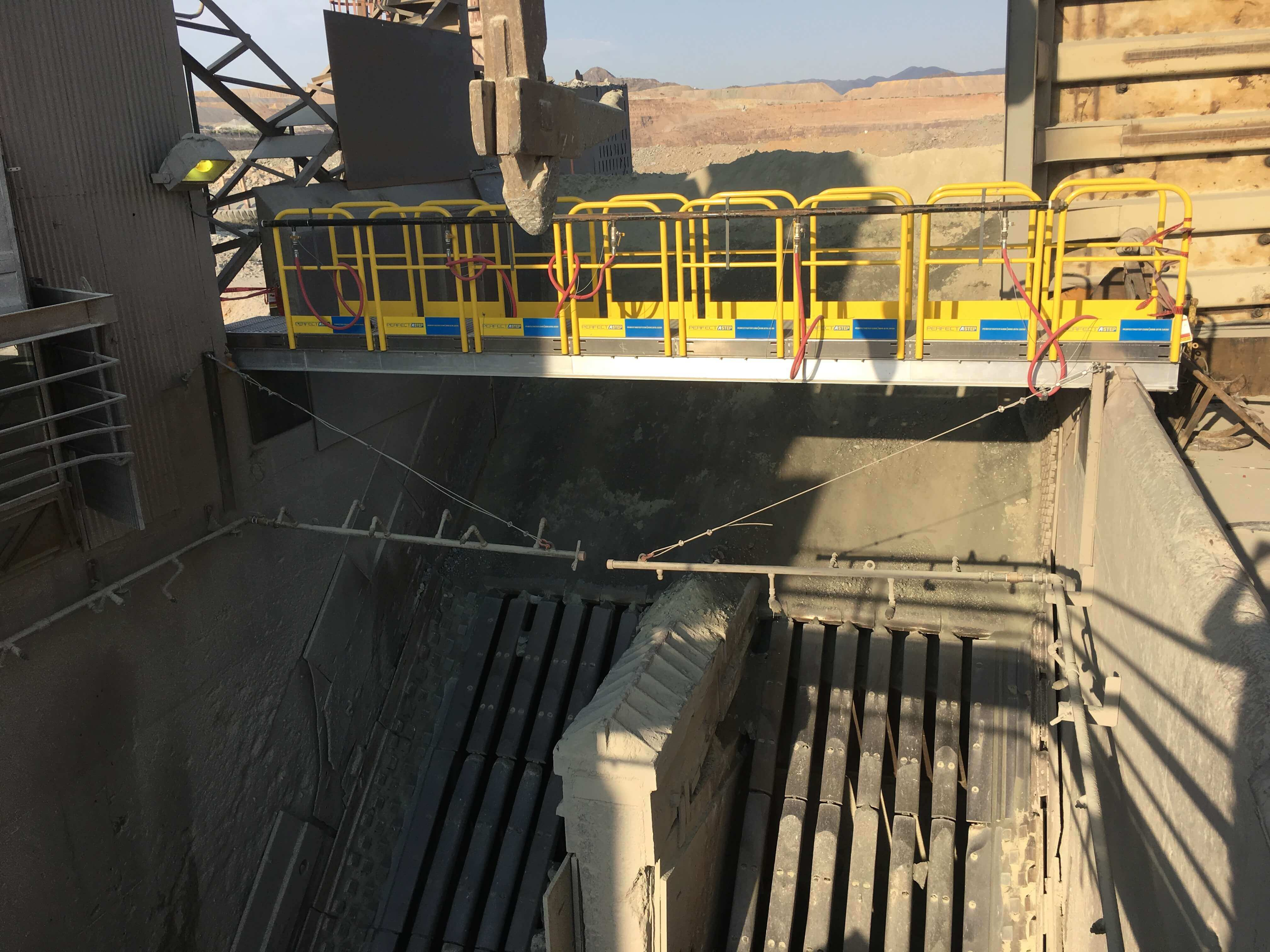 Metal Bridge with Metal Railings