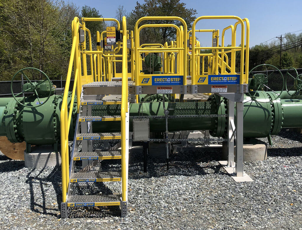 ErectaStep Propane Facility Crossover Stairs