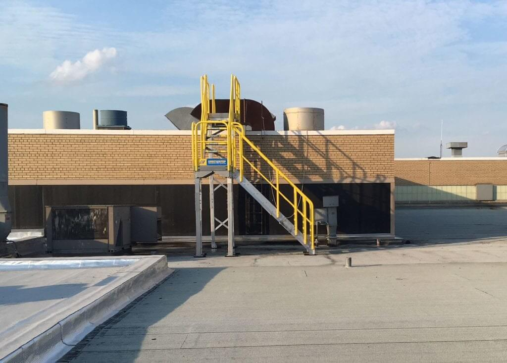 Campbell Soup Metal Stairs for Roof Access