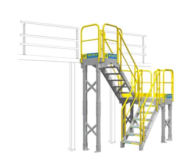 Mezzanine Access Stairs