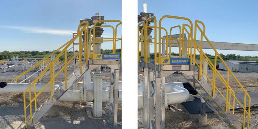 Providing convenient access over a large pipeline