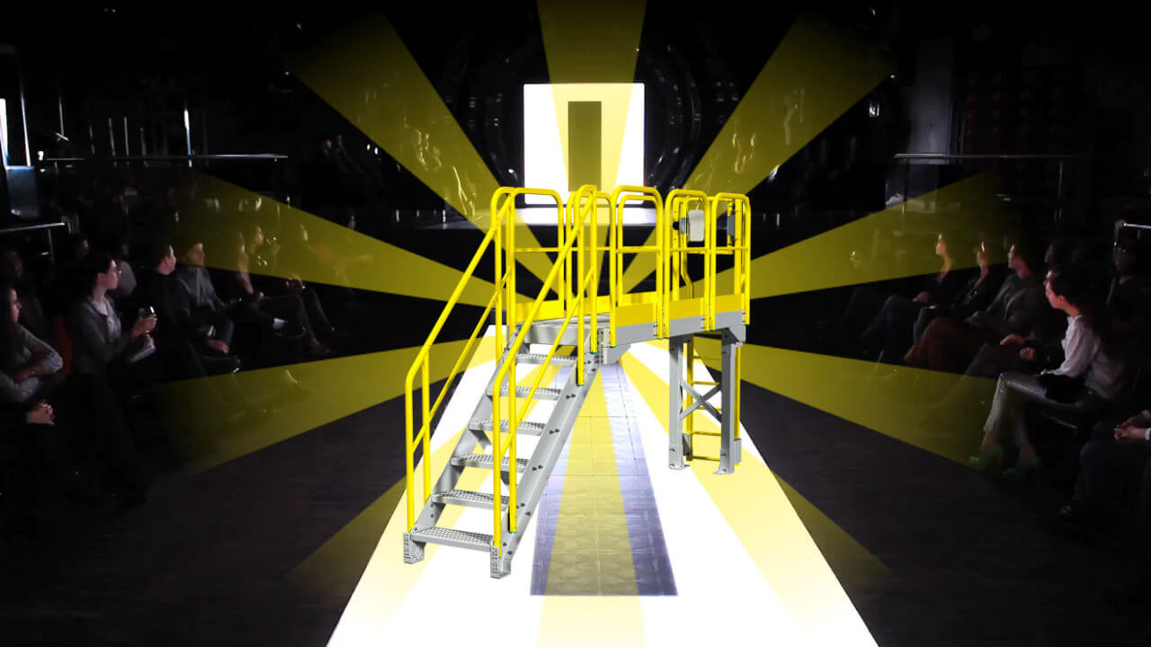 An access catwalk takes centerstage