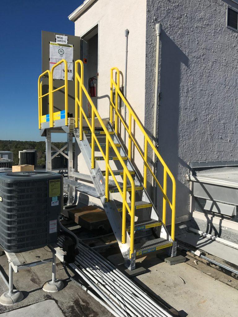 Erectastep building access industrial stairway