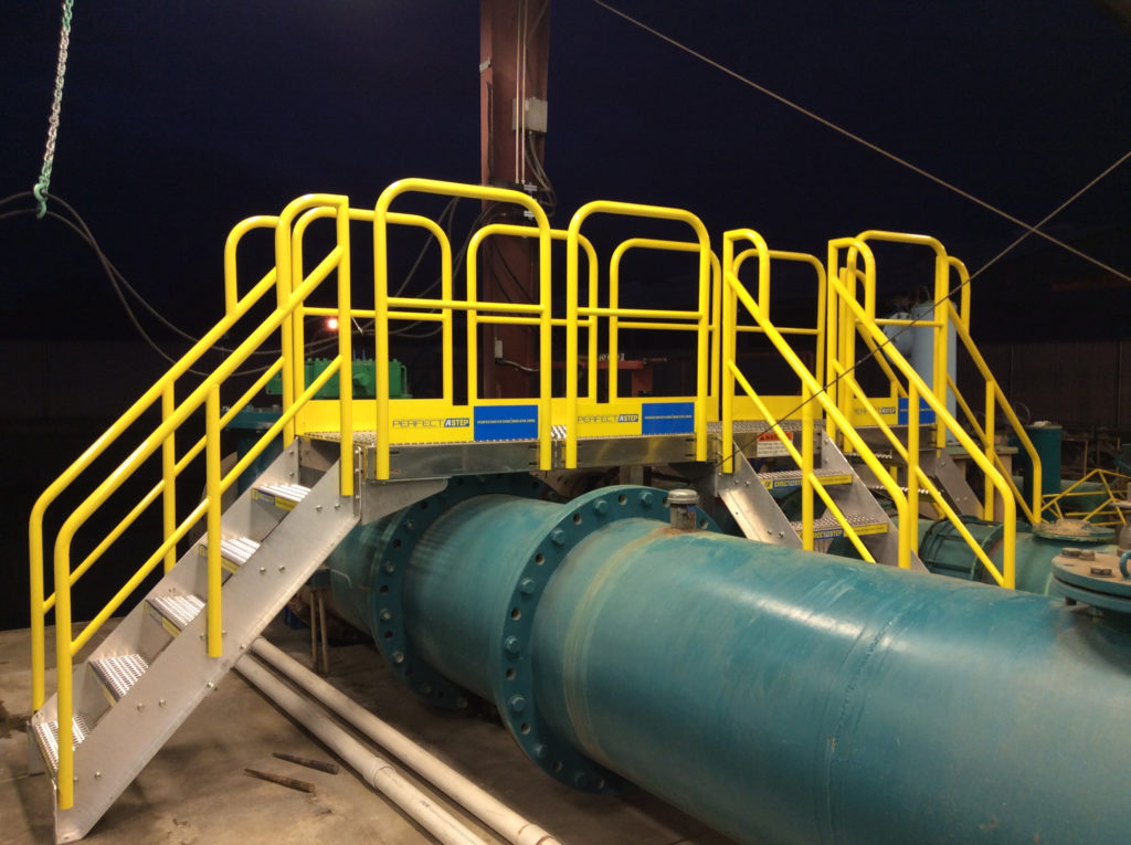 Erectastep industrial crossover platform in Porterville