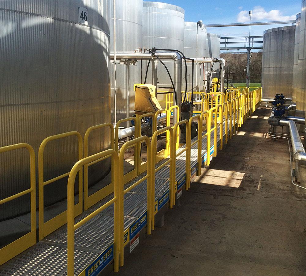 Erectastep tank access platform International wax Titusville PA