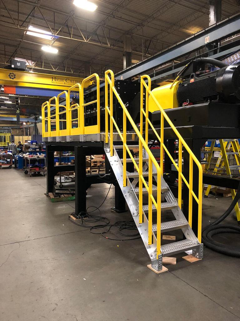 Stair Maintenance Access Work Platform