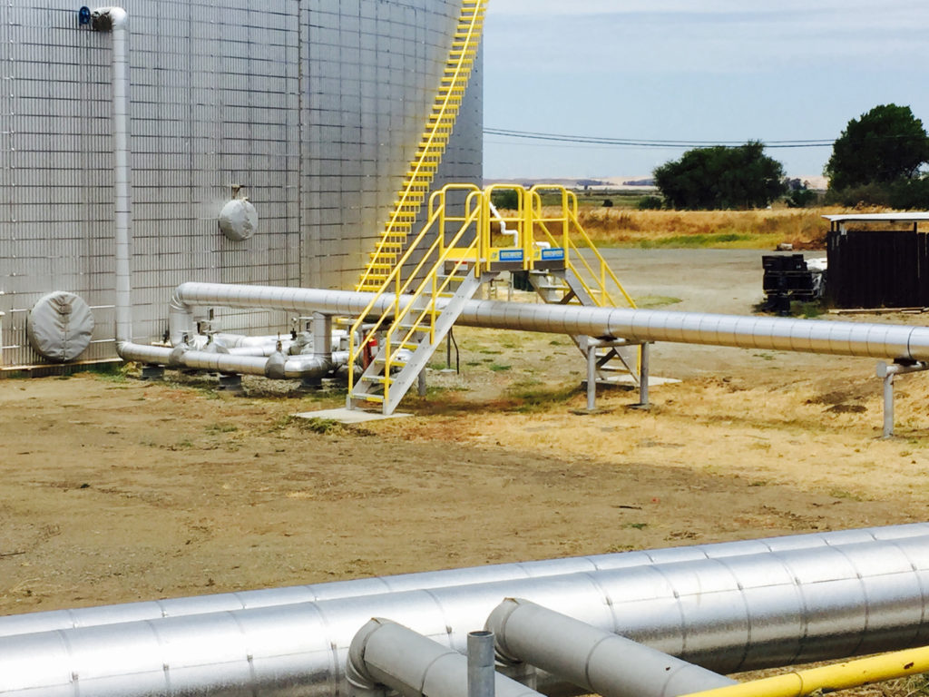 Erectastep NuStar pipe crossover stairs by tanks