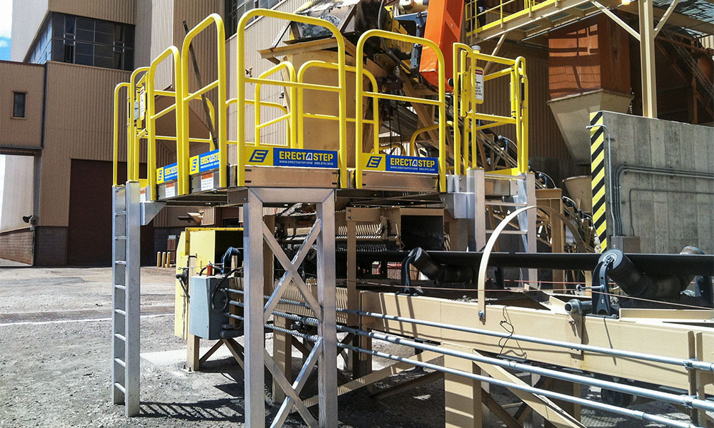 Escalante Generating Station Erectastep access platform
